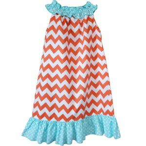 LOLLY WOLLY DOODLE CHEVRON RUFFLE DRESS SIZE 7